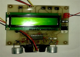 فاصله سنج با سنسور شارپGP2Y0A21 و آلتراسونیک