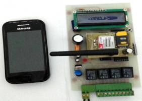 دستگاه صنعتی SMS کنترلر با 4 رله