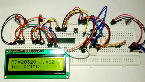 humidity HS1101 lcd